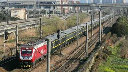 【中国国铁】HXD1D-0496与CRH2C会车