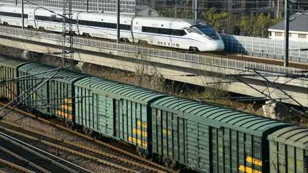 【中国国铁】DF4B-7708与CRH380D赛跑