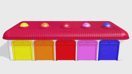 亮亮玩具 宝宝学习颜色 动画学英语 汽车搅拌车巴士警车 婴幼儿儿童玩具视频 亲子早教