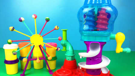 天天趣玩亲子玩具 第一季 小猪佩奇玩具过家家 彩泥制作视频糖果摩天轮