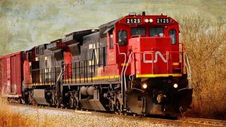 美帝铁道日常_BNSF公司货物列车和联合太平洋货运列车