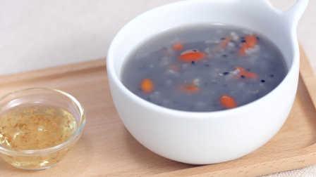 菲尝菜谱:枸杞黑芝麻粥