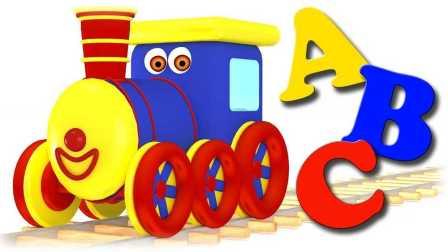 火车为儿童 学习字母表 学习单词 宝宝视频 火车玩具