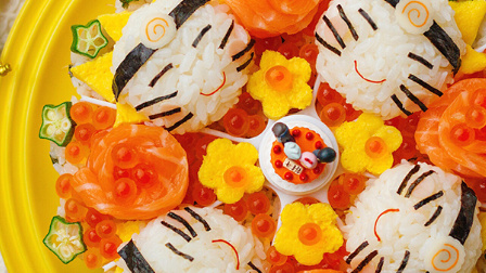 火影忍者·鸣人四重影分身【寿司蛋糕】丨绵羊料理