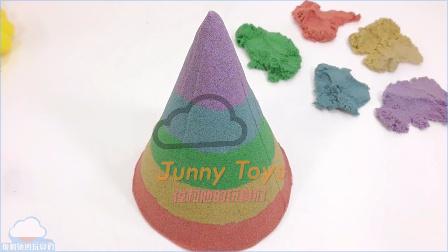Kinetic太空沙 色生日帽蛋糕玩具DIY学习颜色泥 动力砂沙 天使沙 动感沙 美国玩具 新奇人气玩具  【 俊和他的玩具们 】