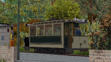 『干部来袭』OMSI2 老电车AEG Oldtimer Trolley Eberlinsee1路有轨电车 巴士模拟2