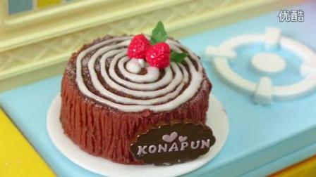 【Amy时尚世界】日本食玩-不可食 圣诞树桩蛋糕_标清.flv