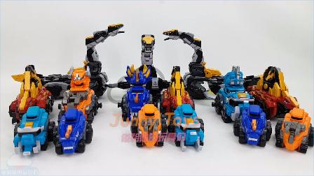 恐龙战士合体 组合变形金刚玩具 韩国最新出 人气玩具 五台恐龙车 变形恐龙 机器恐龙玩具变形 男孩子玩具 【 俊和他的玩具们 】