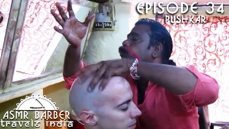 围观一下印度理发师的奇葩头部按摩 光头我就赚不到钱了?图样图森破!