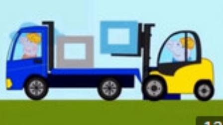 伐木大卡车 挖掘机视频表演大全9 工程车 消防车 挖土机 汽车总动员动画片中文版.mp4