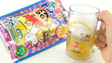 玩具益趣园 2017 日本食玩蜡笔小新恶作剧啤酒饮料第六弹