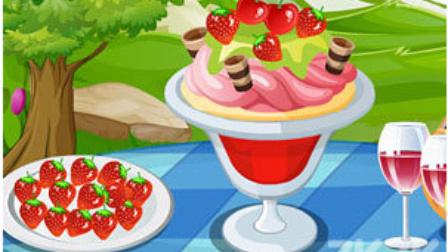 彩虹雪糕蛋糕美味点心 奶酪冰激凌