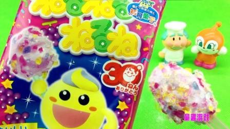 童趣游戏面包超人 第一季 面包超人制作超人气棉花糖  制作超人气棉花糖