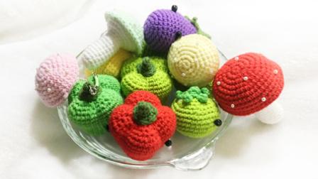 【小脚丫】(柠檬)毛线钩法毛线彩色柠檬的钩法学钩玩偶毛线蔬菜水果超漂亮的钩法
