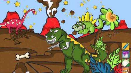 恐龙填色 芭比娃娃 白雪公主动画片大全