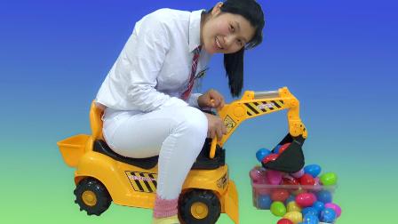 挖土机玩具 小谷姐姐挖土机游戏