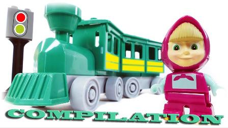 熊出没之夺宝熊兵 火车和熊出没之 乐高  乐高积木  动画片 玩具漫画 火车