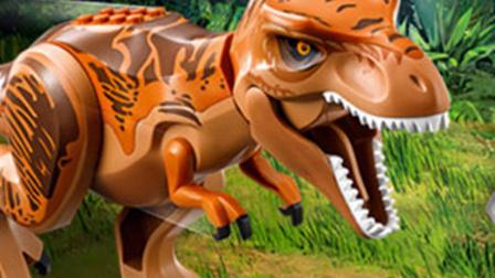 乐高侏罗纪世界第3期:暴虐霸王龙围场★恐龙积木玩具