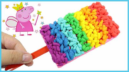 亲子手工彩虹糖粒冰棒