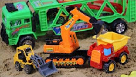 小不点的玩具 2017 儿童挖掘机玩具 工程车大卡车玩具 654 工程车大卡车玩具