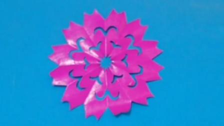 剪纸小课堂245: 窗花团花18 儿童剪纸教程视频大全 亲子手工DIY教学