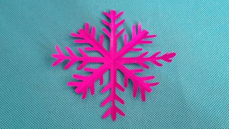 剪纸小课堂193:圣诞节剪纸 雪花 儿童剪纸教程视频大全 亲子手工DIY教学 折纸王子