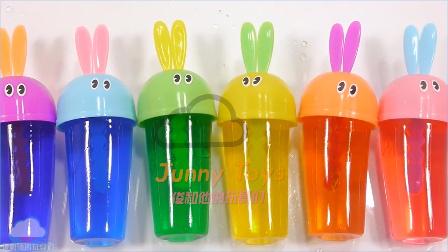 DIY 如何使软颜色布丁果冻冰淇淋做法 学习颜色惊喜玩具泥 自制食玩 儿童玩具 【 俊和他的玩具们 】