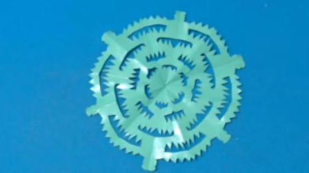 剪纸小课堂256:剪纸 仙人球 儿童剪纸教程视频大全 亲子手工DIY教学