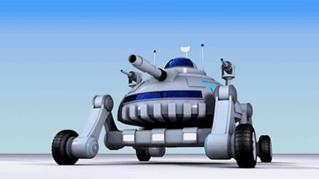 C4D建模教程 科幻智能小炮车 09