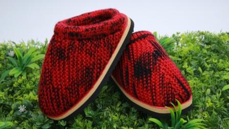 巧手女工编织坊段染线拖鞋教学视频,毛线拖鞋教程图解,手工拖鞋,儿童毛线拖鞋视频毛线最新织法