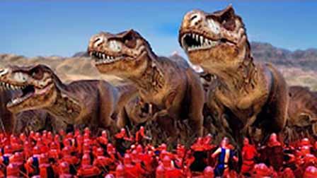 魔哒解说 史诗战争模拟器侏罗纪恐龙大战斯巴达300勇士