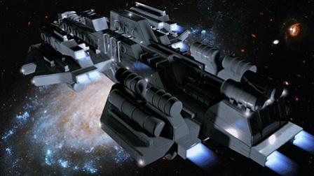 C4D超级太空船建模中文视频教程 06 灯光 材质和背景