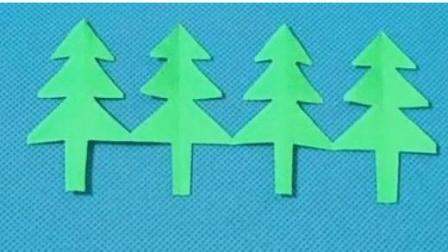 剪纸小课堂243:小树林 剪纸视频教程大全 儿童亲子手工DIY教学