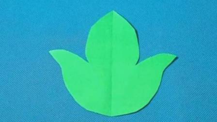 剪纸小课堂246:叶子 剪纸视频教程大全 儿童亲子手工DIY教学 简单剪