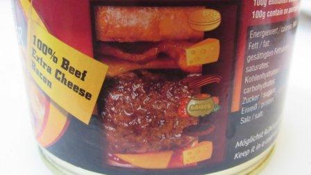 【速食评测】培根奶酪汉堡罐头