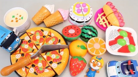 0691 - 学习水果英文名玩具魔术贴切比萨冰淇淋玩Doh惊喜鸡蛋玩.mkv