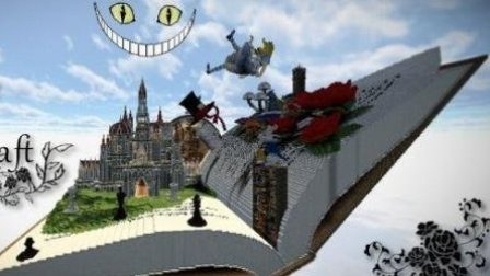 小橙子姐姐我的世界《爱丽丝梦游仙境》1:穿西装的兔子先生 minecraft
