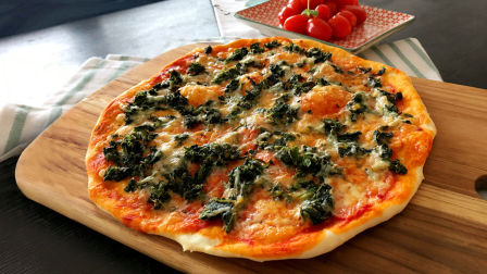 传统手工意式薄底披萨 Traditional Italian Style Homemade Thin Crust Pizza