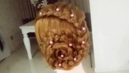 时尚美发编发教程一步一步教一款淑女发型