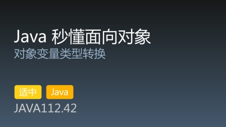 JAVA112.42 - Java 稳扎基础编程 第42集 对象变量类型转换