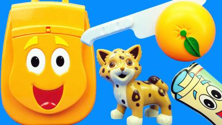朵拉历险记:迪亚哥的橙色背包玩具