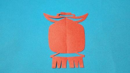 剪纸小课堂306:宫灯灯笼 儿童剪纸教程大全 亲子手工DIY教学