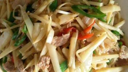 鲜竹笋炒肉的做法视频
