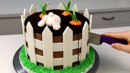 后花园菜地里种萝卜,卡通生日蛋糕