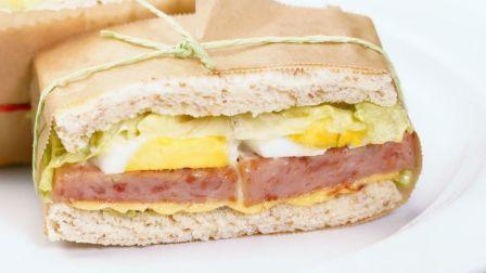 丧心病狂的厚火腿三明治你吃过吗?营养简单又美味