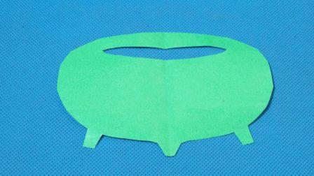 剪纸小课堂320:鱼缸 儿童剪纸教程大全 亲子手工DIY教学