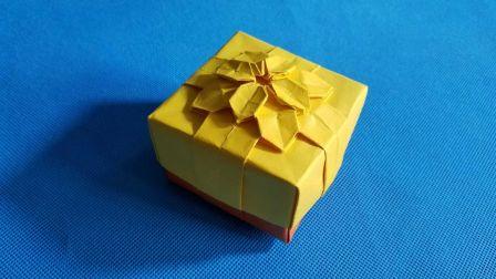 教你折纸绣球花缎带盒子(一)