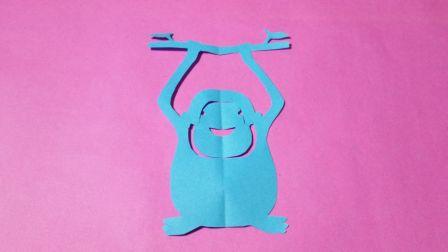 剪纸小课堂321:大猩猩 儿童剪纸教程大全 亲子手工DIY教学