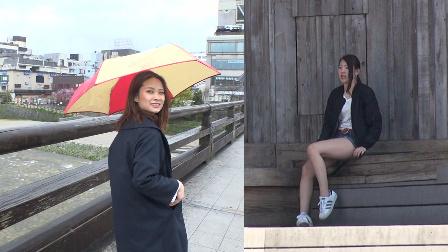 中国眼镜辣妹PK日本长腿美女 20
