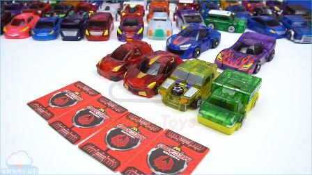 7台 新款魔幻车神4代大全 多拉车神 南瓜鬼车神 鬼神车神 火车车神 变形金刚车玩具 【 俊和他的玩具们 】